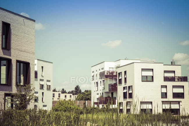 Germany, Berlin, new built detached multi-family houses — Stock Photo