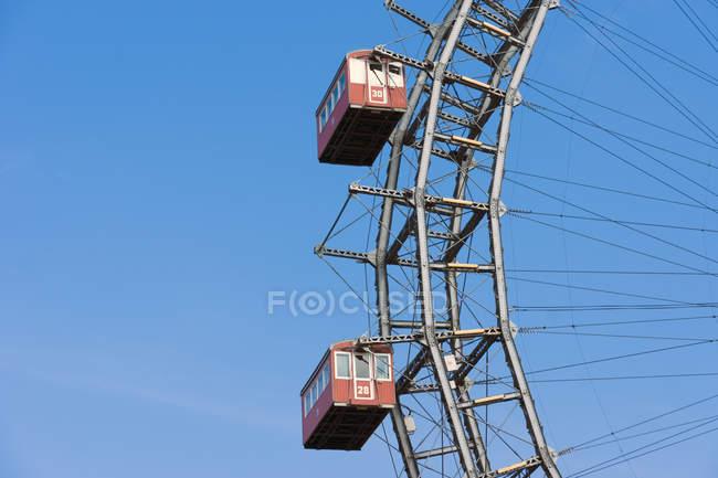 Австрії, Відень, Пратер, Віденський гігантським колесо проти неба — стокове фото