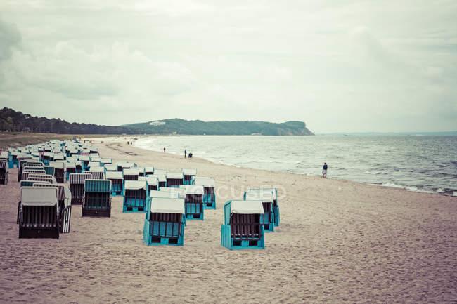 Німеччина, Мекленбурзі-передній Померанії, Рюген, вид на пляжі на Балтійському курорті Goehren — стокове фото
