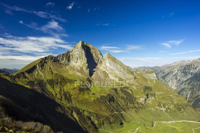 Germany, Bavaria, Allgaeu, Allgaeu Alps, View to mountian Hoefats — стокове фото