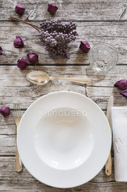 Soup dish on autumnal laid table — Stock Photo