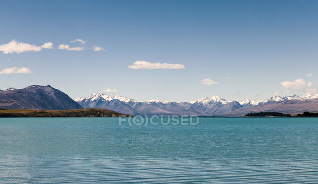 New Zealand, South Island, and view of rocky shore against  water — Stock Photo
