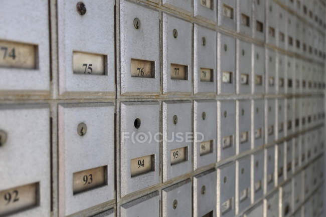 PO boxes on Cayman Islands, indoors — Stock Photo