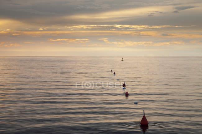 Slovenia, Istria, Slovene Littoral, Izola, Adriatic coast in the evening — Stock Photo
