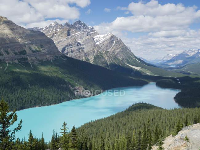Canadá, Alberta, Parque Nacional de Banff, Peyto Lake — Fotografia de Stock