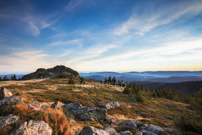 Allemagne, Bavière, Parc National de forêt bavaroise, Wagnerkopf en automne — Photo de stock