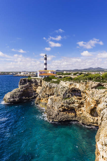 Porto Colom, Lighthouse — Stock Photo