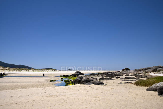 Espanha, Galiza, Praia de Carnota, praia na Costa da Morte — Fotografia de Stock