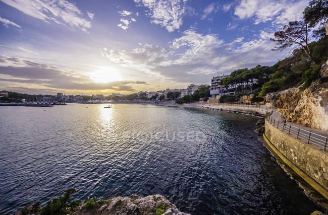 Spagna, Maiorca, Porto Cristo, Porto e Passeig de la Sirena — Foto stock