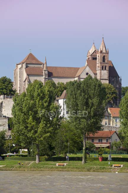 Deutschland, Baden-Württemberg, Breisach, oberen Rhein, Blick nach Breisach Münster — Stockfoto