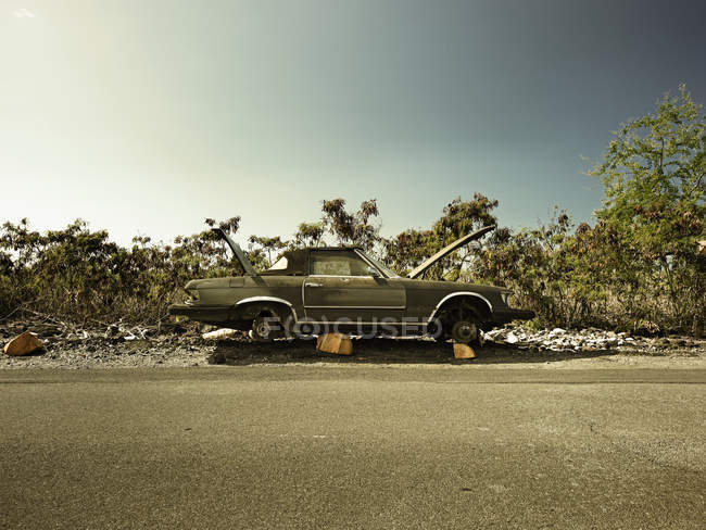 Rotas de coches de época en carretera en Kona, Hawaii, Usa - foto de stock