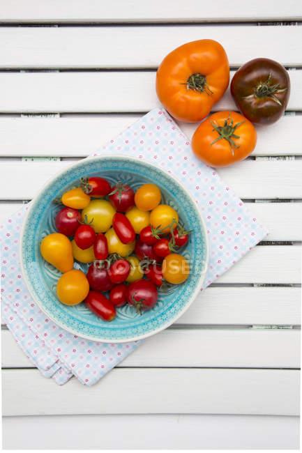 Различные семейные помидоры — стоковое фото