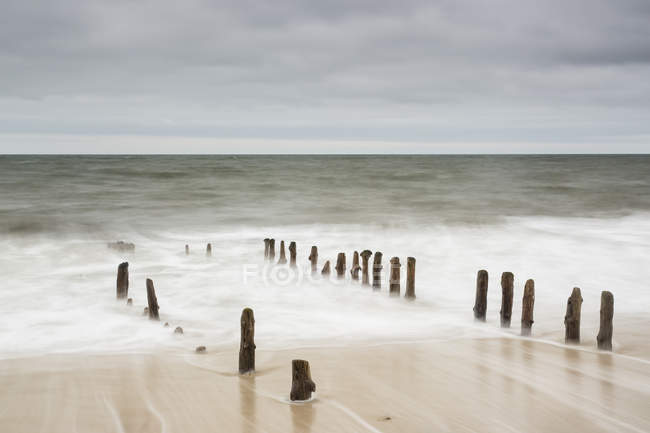 Germany, Schleswig-Holstein, Sylt, North Sea, breakwaters — Stock Photo