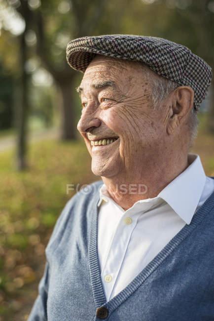 Happy senior man outdoors — Stock Photo