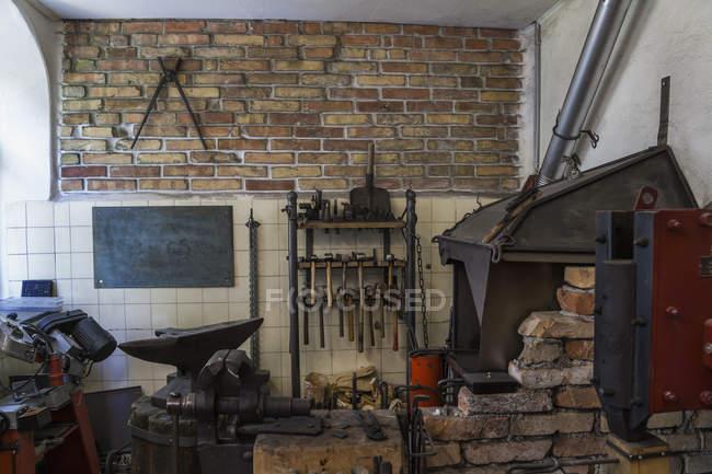 Workshop of a knife maker — Stock Photo