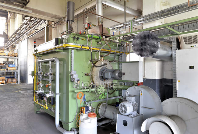 Process engineering machine in a factory hall indoors — Stock Photo