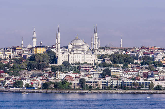 Türkei, Istanbul, Blick auf die Sultan-Ahmed-Moschee — Stockfoto
