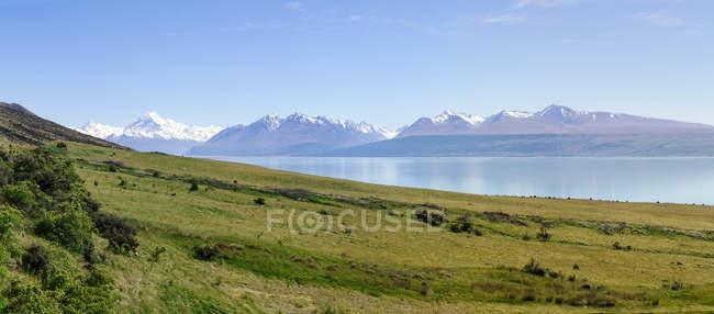 New Zealand, South Island, Panorama of Lake Pukaki — Stock Photo