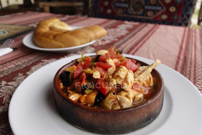 Turchia, Cappadocia, tipicamente turca stew pot Firinda Guevec — Foto stock