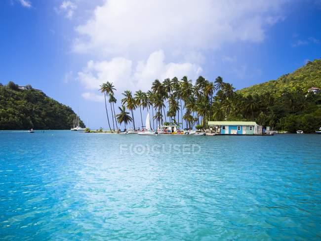 Caraïbes, Antilles, petites Antilles, Sainte Lucie, Marigot Bay — Photo de stock