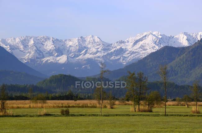 Німеччина, Баварія, верхній Bavaraia, Murnau, Murnauer Moos, ефіру гори денний час — стокове фото