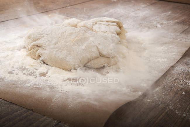 Preparing yeast dough for Franzbroetchen — Stock Photo
