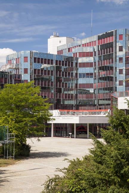 Luxemburgo, cidade de Luxemburgo, Europeu trimestre, Parlamento Europeu, Konrad Adenauer construção — Fotografia de Stock
