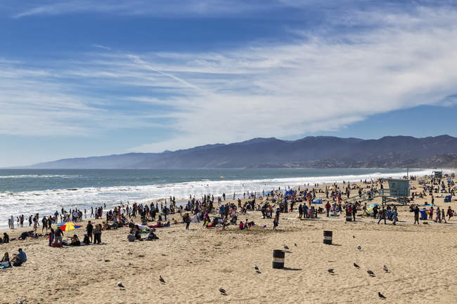 USA, California, Santa Monica, Santa Monica State Beach during daytime — Stock Photo