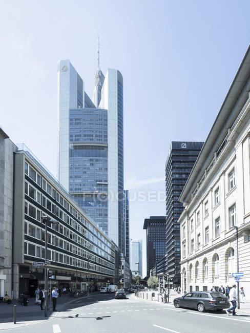 Alemania, Hesse, Frankfurt, Commerzbank Tower view - foto de stock