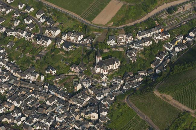 Germany, Rhineland-Palatinate, aerial view of Klotten — Stock Photo