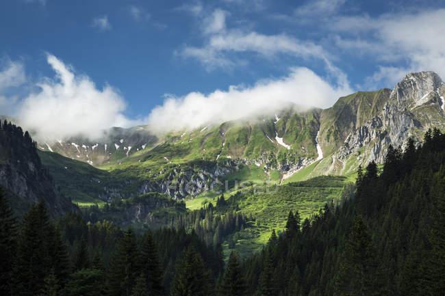 Österreich, Allgäuer Hochalpen, Heiterberg, Baergunttal tagsüber — Stockfoto
