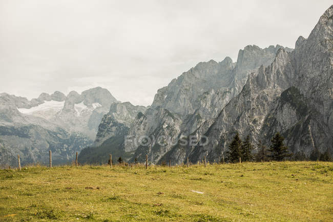 Austria, Gosau, View to Dachstein Mountains  during daytime — Stock Photo