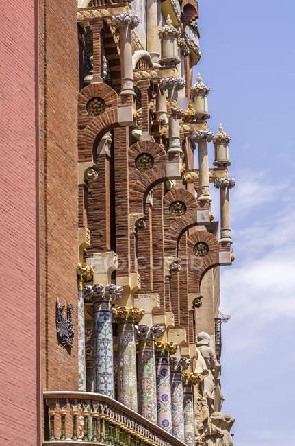 Spain, Barcelona, detail of Palau de la Musica Catalana — Stock Photo