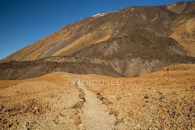 Spain, Canary Islands, Tenerife, Teide National Park, Montana Blanca, hiking path — Stock Photo