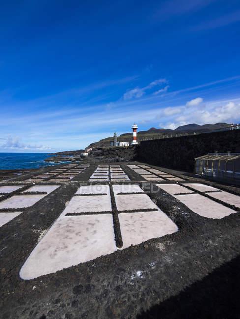 Farol novo e velho em Faro de Fuencaliente — Fotografia de Stock