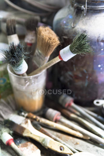 Germany, Munich, Brushes in art foundry — Stock Photo