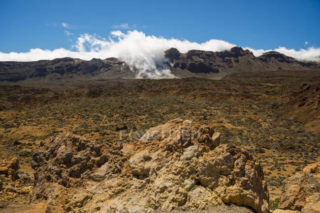 Spain, Canary Islands, Tenerife, Teide National Park, Volcanic landscape, Plateau — Stock Photo