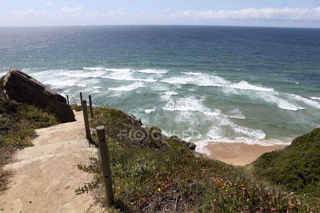 Portugal, Sintra, stairs to the beach — Stock Photo