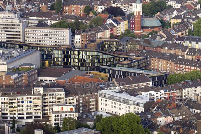 Germania, Nord Reno-Westfalia, Aquisgrana, veduta aerea del centro urbano — Foto stock