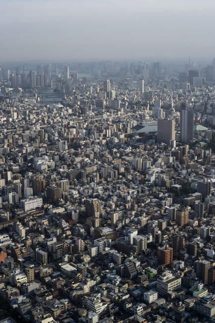 Giappone, Tokyo, skyline con edificio e torri — Foto stock