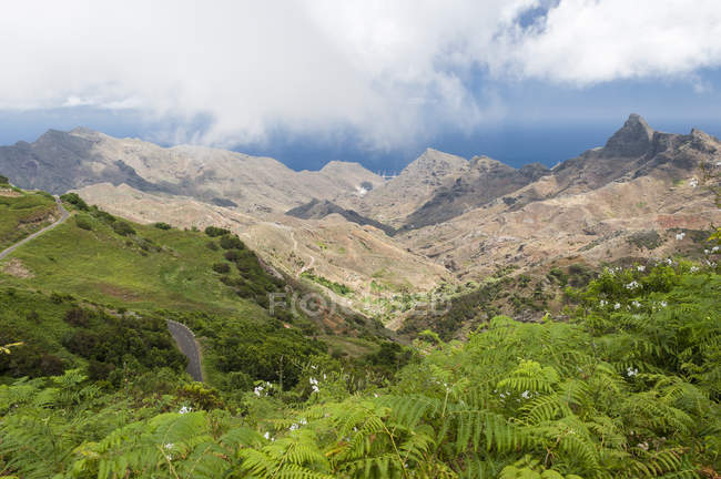 Spain, Canary Islands, Tenerife, Anaga Mountains on the northeast coast — Stock Photo