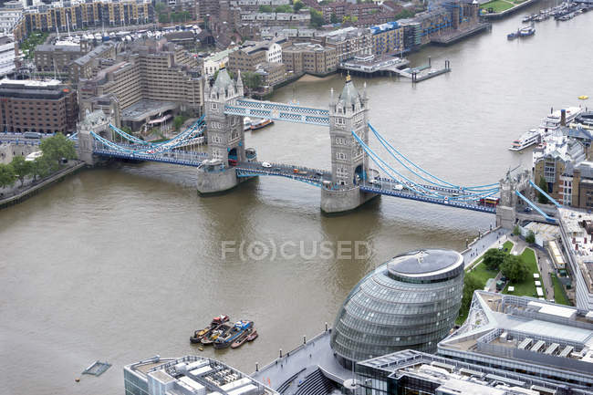Grã-Bretanha, Endland, Londres, Southwark, Vista de The Shard to Tower Bridge — Fotografia de Stock