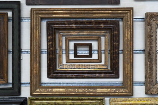 Variation der Holzbilderrahmen — Stockfoto