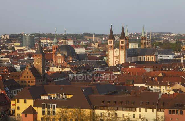 Germania, Baviera, Wuerzburg, centro storico, Cattedrale di Wuerzburg — Foto stock