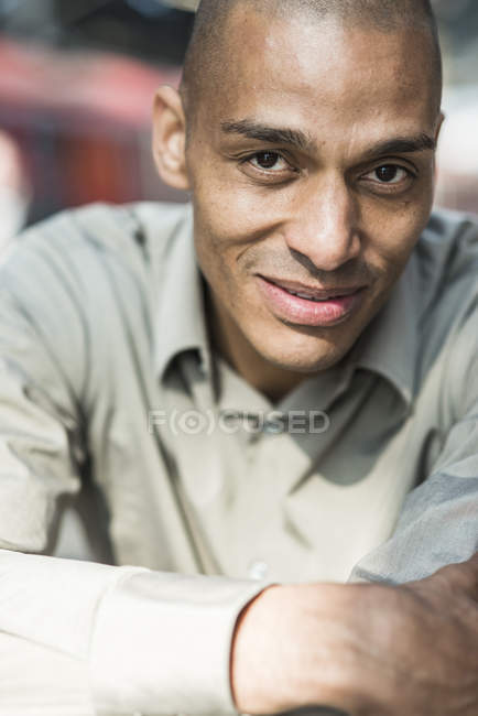 Portrait of confident african american businessman — Stock Photo