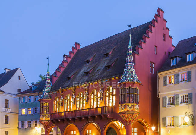 Deutschland, Baden-Württemberg, Freiburg, Altstadt, Münster quadratisch, Historisches Kaufhaus, — Stockfoto