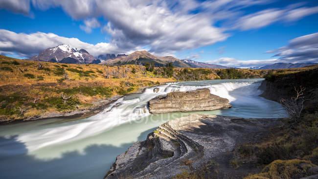 Cachoeira do Chile, Parque Nacional Torres del Paine, La Cascada — Fotografia de Stock