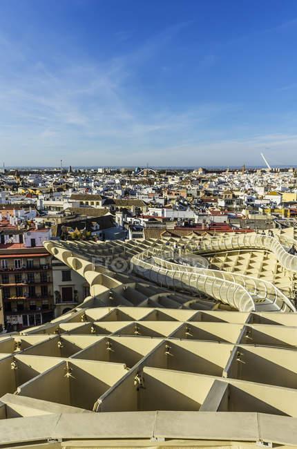 Vista da paisagem urbana durante o dia, Sevilha, Andaluzia, Espanha — Fotografia de Stock
