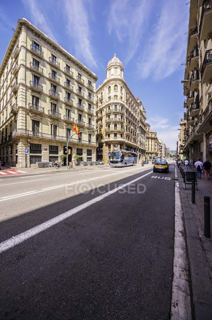 Spain, Barcelona, street in district Barri Gotic — Stock Photo