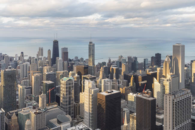 Blick vom Willis Tower auf Chicago bei Tag, Chicago, illinois, usa — Stockfoto